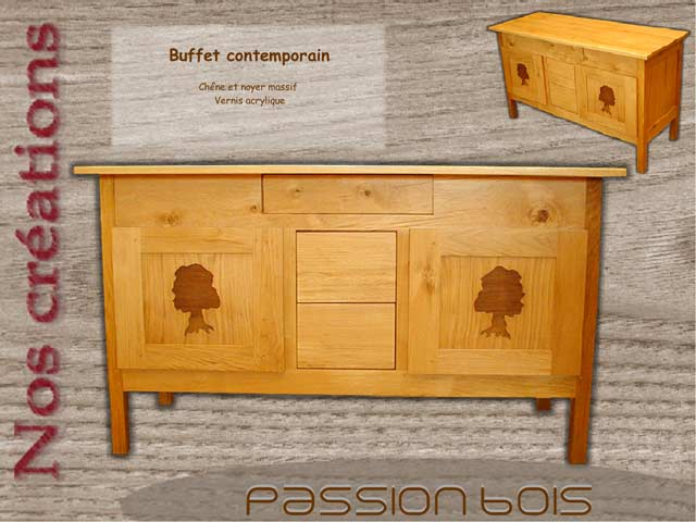 Buffet contemporain chêne