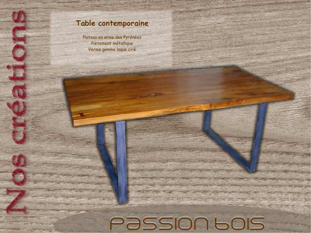 Table contemporaine en orme